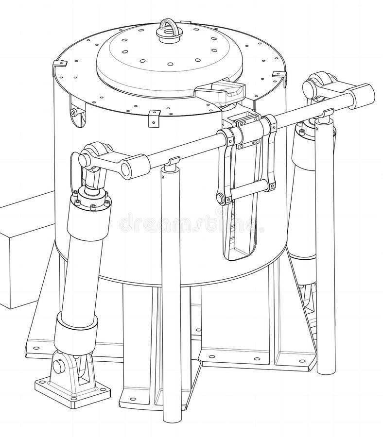 Zeichnung einer Einheit stock abbildung
