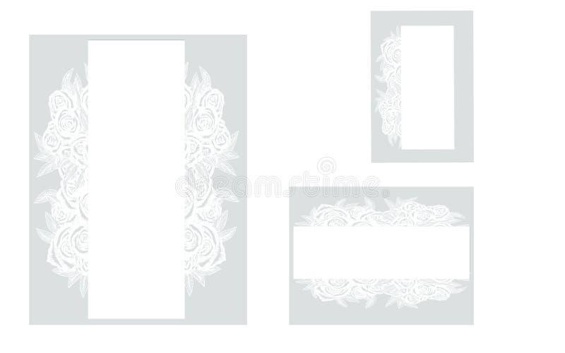 Zeichnungen auf weißem Hintergrund stock abbildung