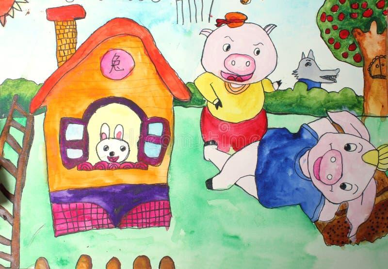 Zeichnungen der Kinder lizenzfreie abbildung