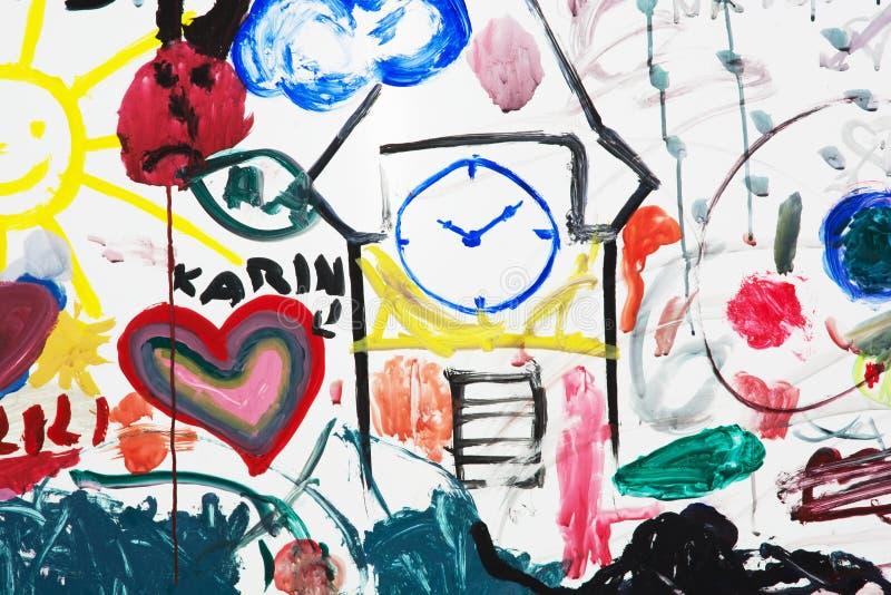 Zeichnungen der Kinder lizenzfreies stockfoto