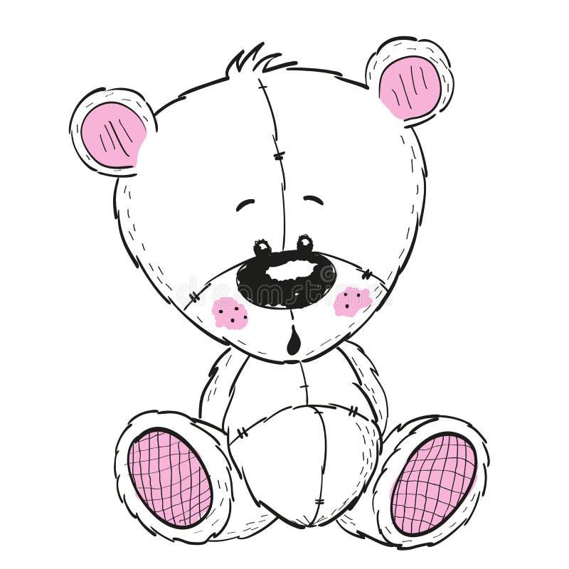 Zeichnungs-Teddybär stock abbildung