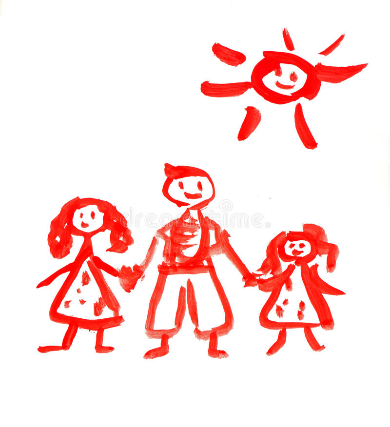 Zeichnungsfamilie lizenzfreie stockfotos