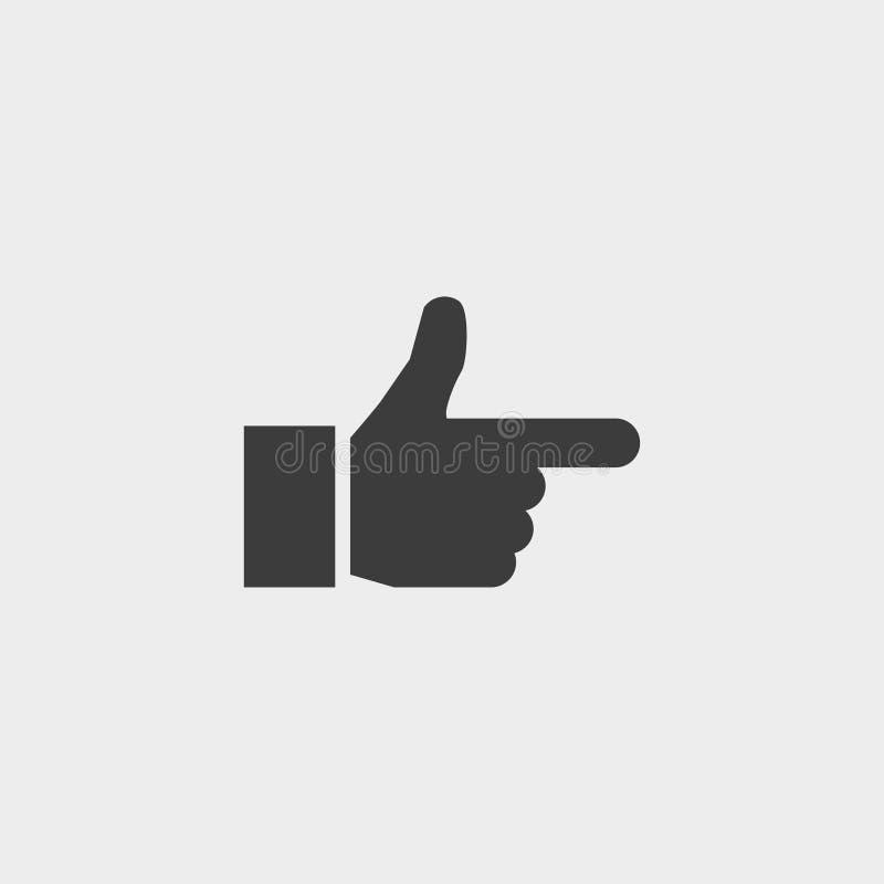 Zeigefingerikone in einem flachen Design in der schwarzen Farbe Vektorabbildung EPS10 vektor abbildung