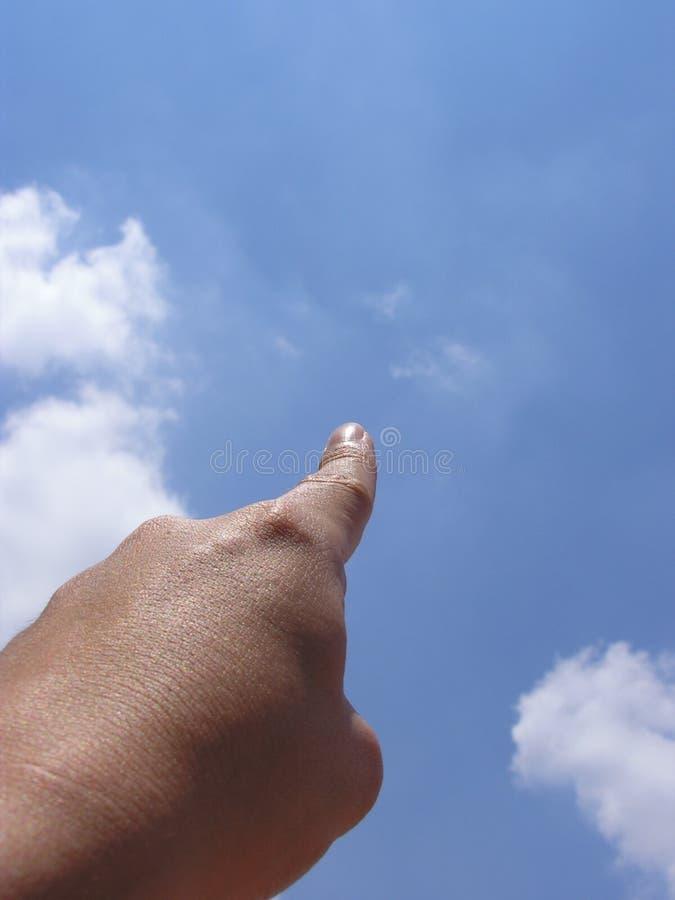 Zeigen Auf Himmel Stockbild