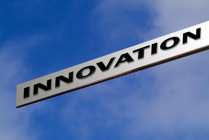 Zeigen auf Innovation stockbilder