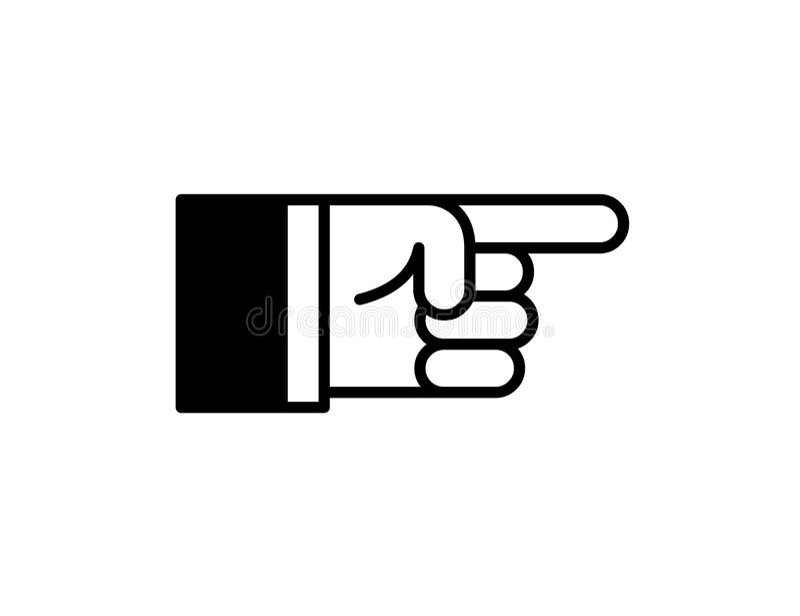 Zeigen der Finger-Ikone stock abbildung