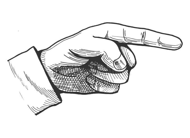 Zeigen der Fingerzeichnung lizenzfreie abbildung