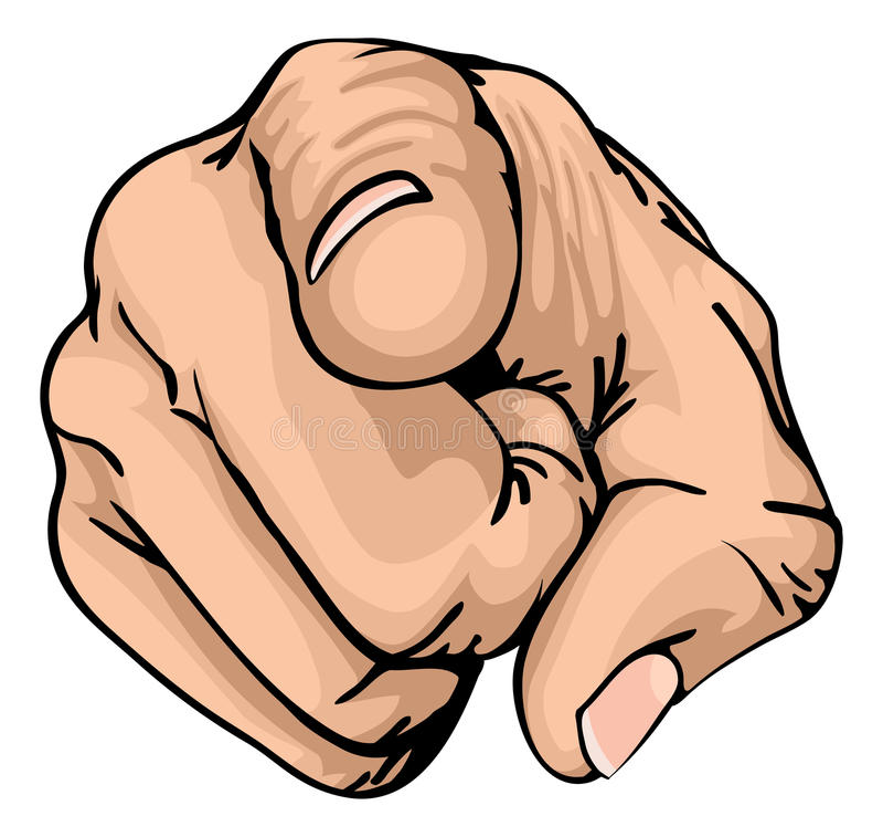 Zeigen des Fingers lizenzfreie abbildung