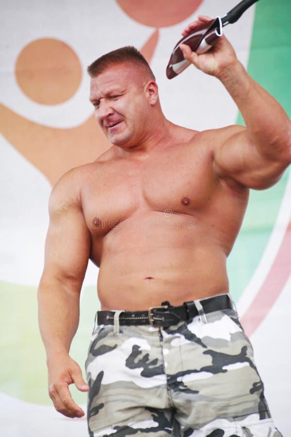 Zeigen Sie der Gruppe das athletische Petersburg lizenzfreie stockfotos