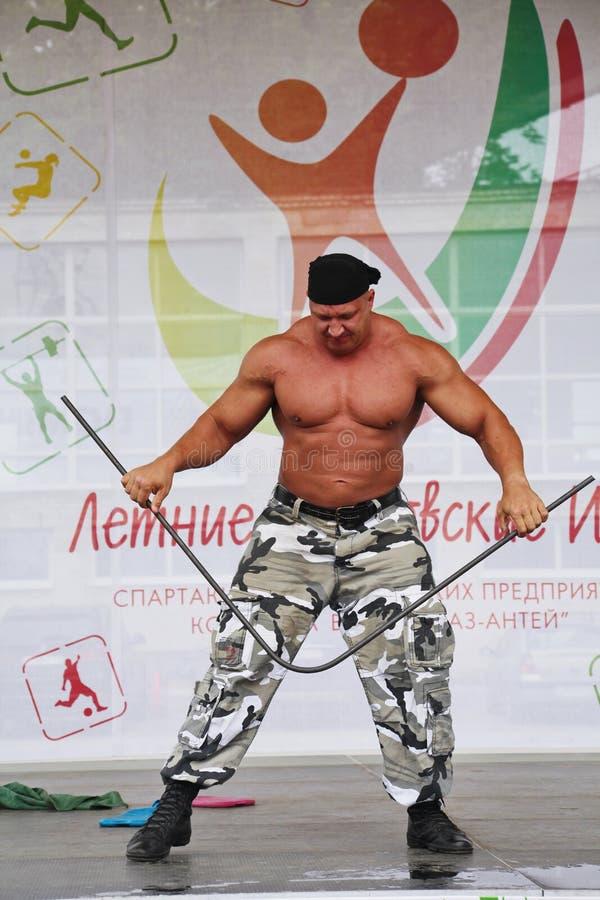 Zeigen Sie der Gruppe das athletische Petersburg stockfoto