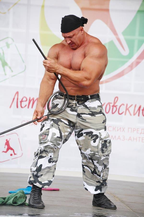 Zeigen Sie der Gruppe das athletische Petersburg stockfotografie