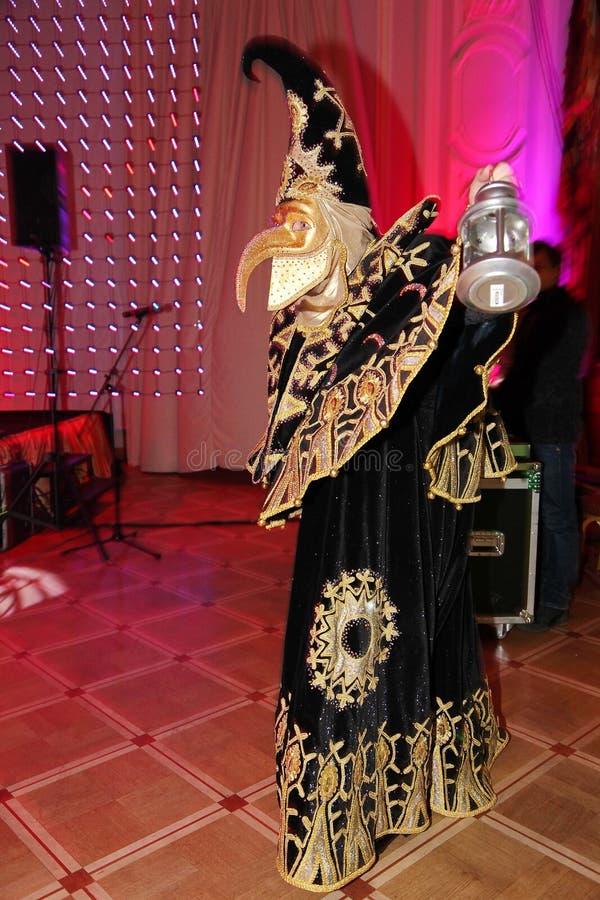 Zeigen Sie venetianischen Karnevalsmagierzauberkünstler Raman Soup stockbild