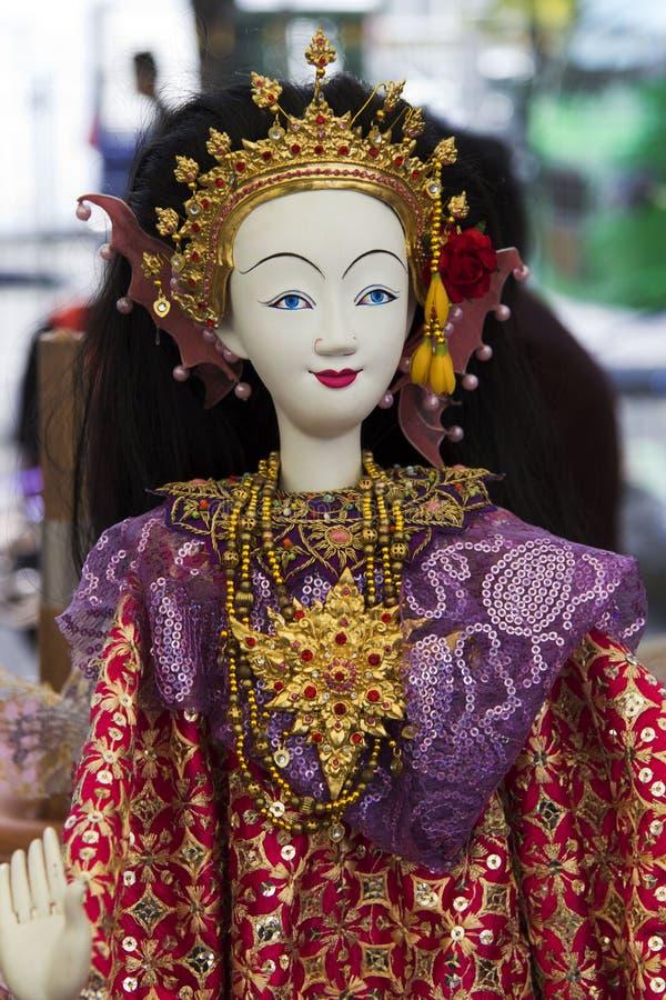 Zeigen Sie vorbildliche Dramaheldin für Marionette (Marionette) stockbilder