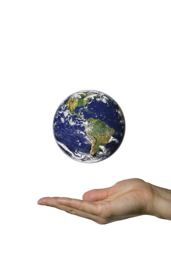 Zeigen von Erde 1 stockfoto