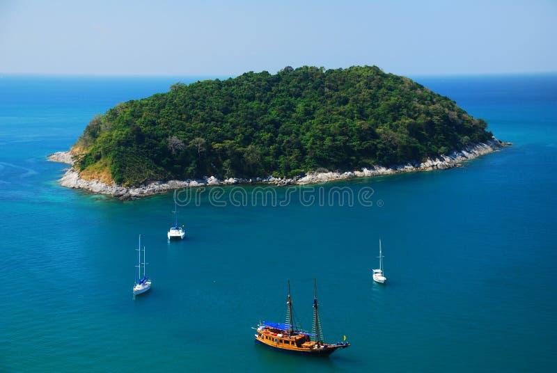 Zeil bij Phuket eiland, Thailand royalty-vrije stock afbeeldingen