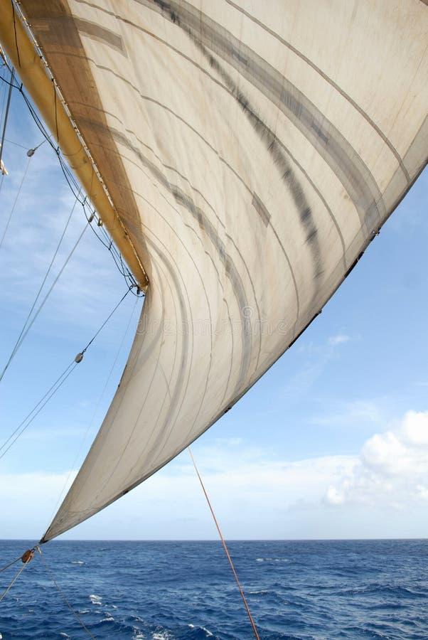 Zeil en oceaan royalty-vrije stock foto