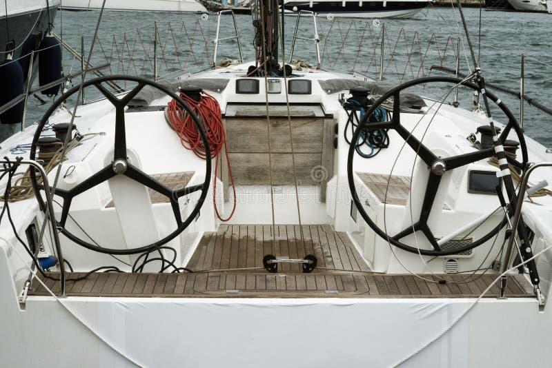Zeilboot bij de Porotmaso-Jachthaven die in Julian St wordt vastgelegd royalty-vrije stock afbeeldingen