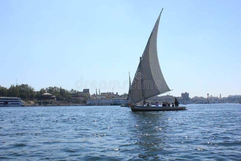 Zeilboot op de Nijl stock foto's