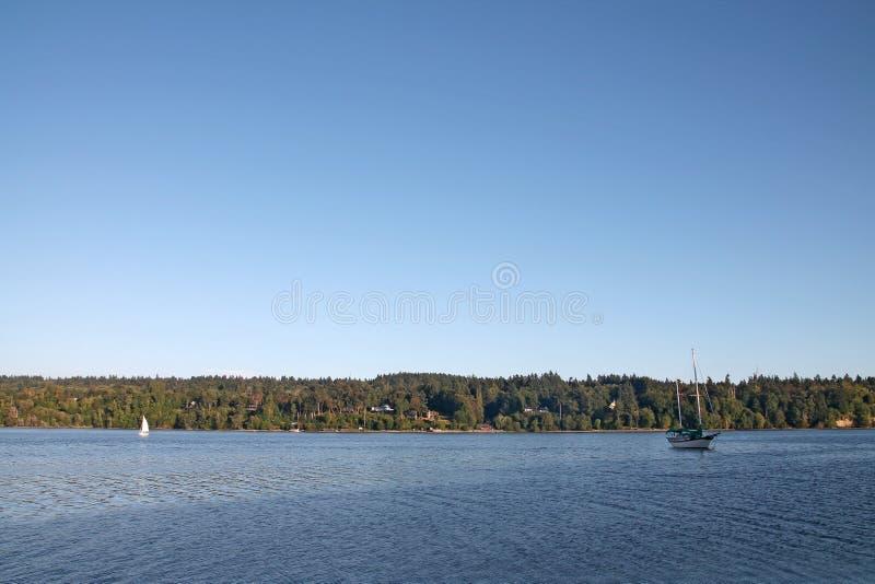 Zeilboot in Vashon Island-haven stock afbeeldingen