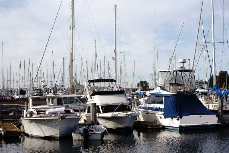 Zeilboothaven Marina del Ray stock foto's
