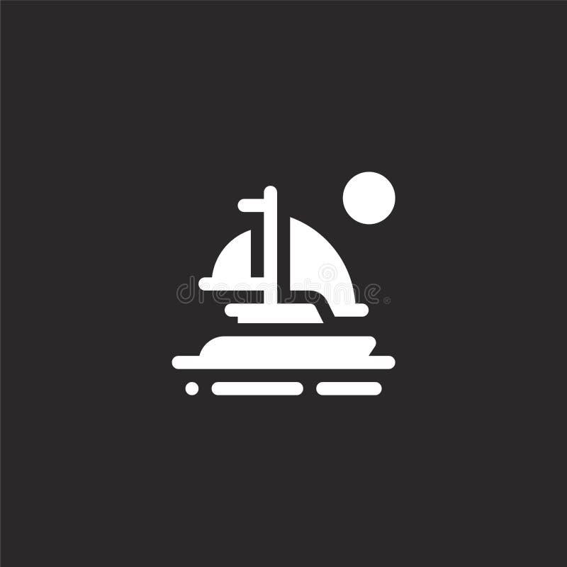 Zeilbootpictogram Gevuld zeilbootpictogram voor websiteontwerp en mobiel, app ontwikkeling zeilbootpictogram van de gevulde inzam royalty-vrije illustratie