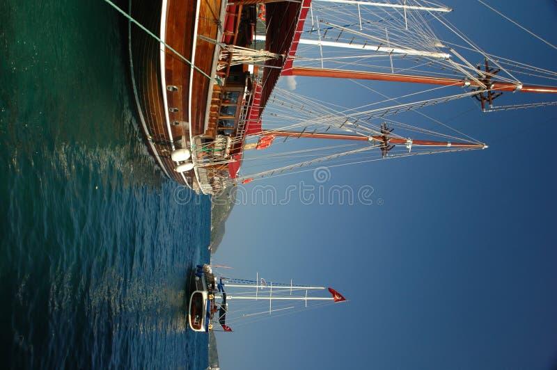 Zeilboten in Marmaris stock fotografie