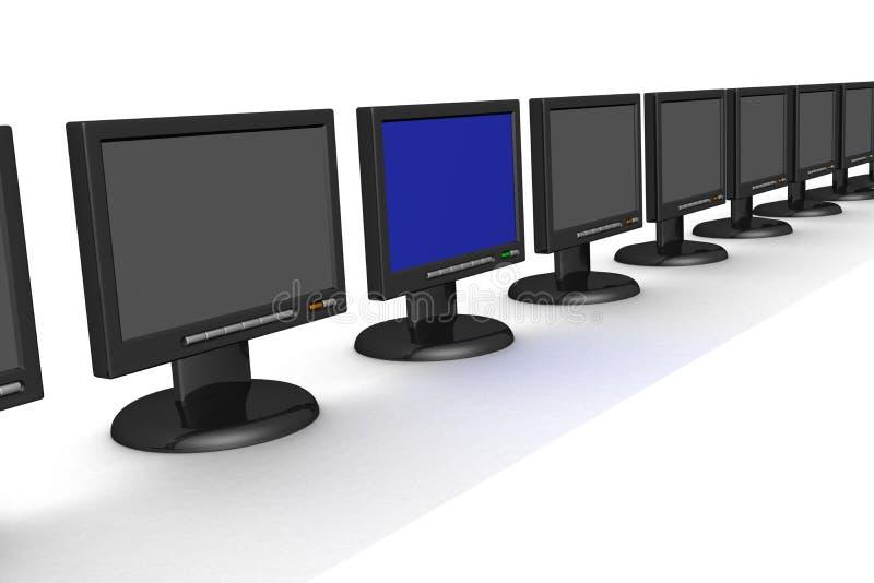 Zeile der Überwachungsgeräte stock abbildung