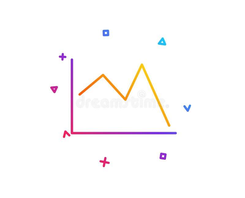 Zeile Diagrammikone Finanzdiagrammzeichen Vektor vektor abbildung