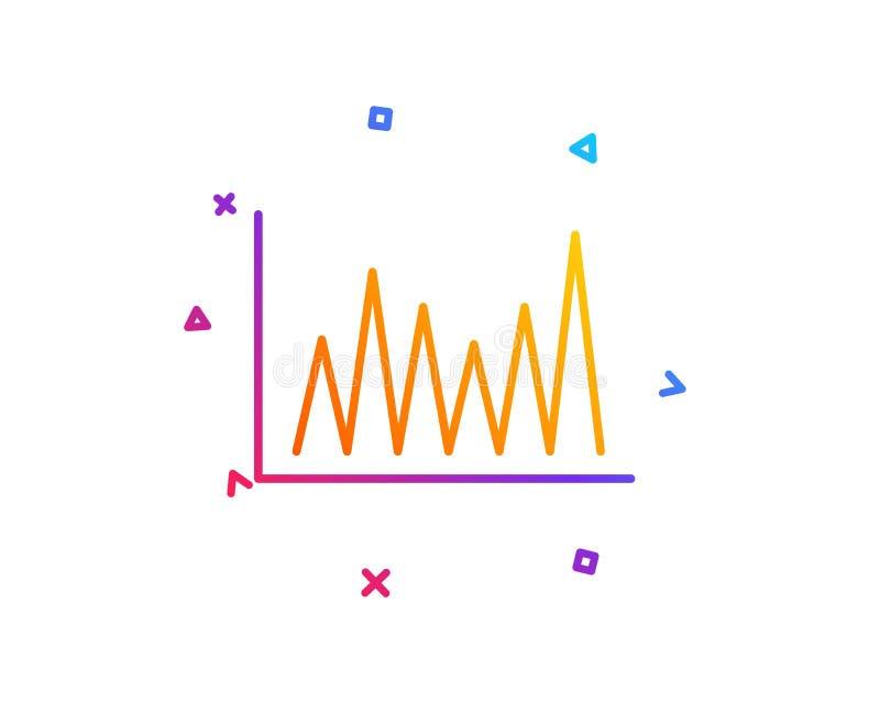 Zeile Diagrammikone Finanzdiagrammzeichen Vektor lizenzfreie abbildung