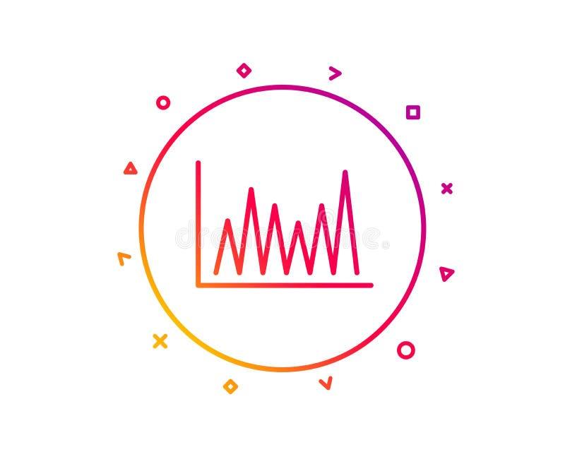 Zeile Diagrammikone Finanzdiagrammzeichen Vektor stock abbildung