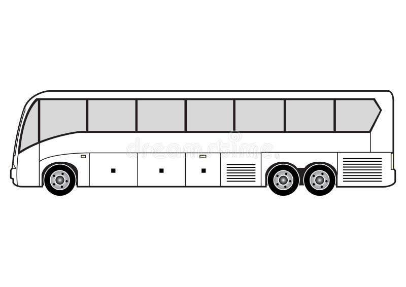 Zeile Kunst - Bus lizenzfreie abbildung