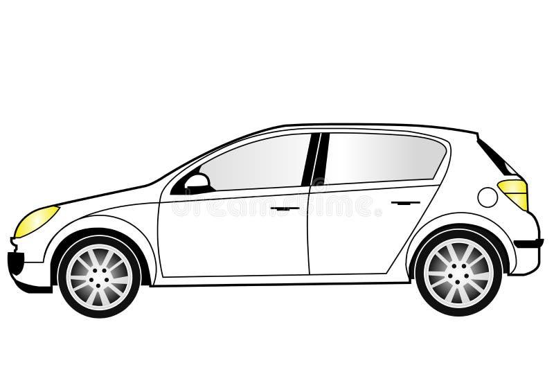 Zeile Kunst des kompakten Autos vektor abbildung