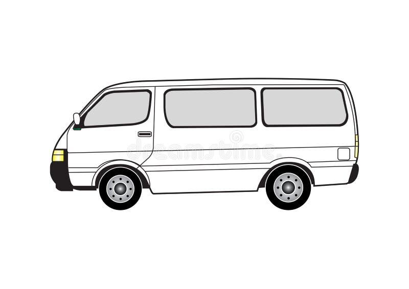 Zeile Kunst - Packwagen vektor abbildung