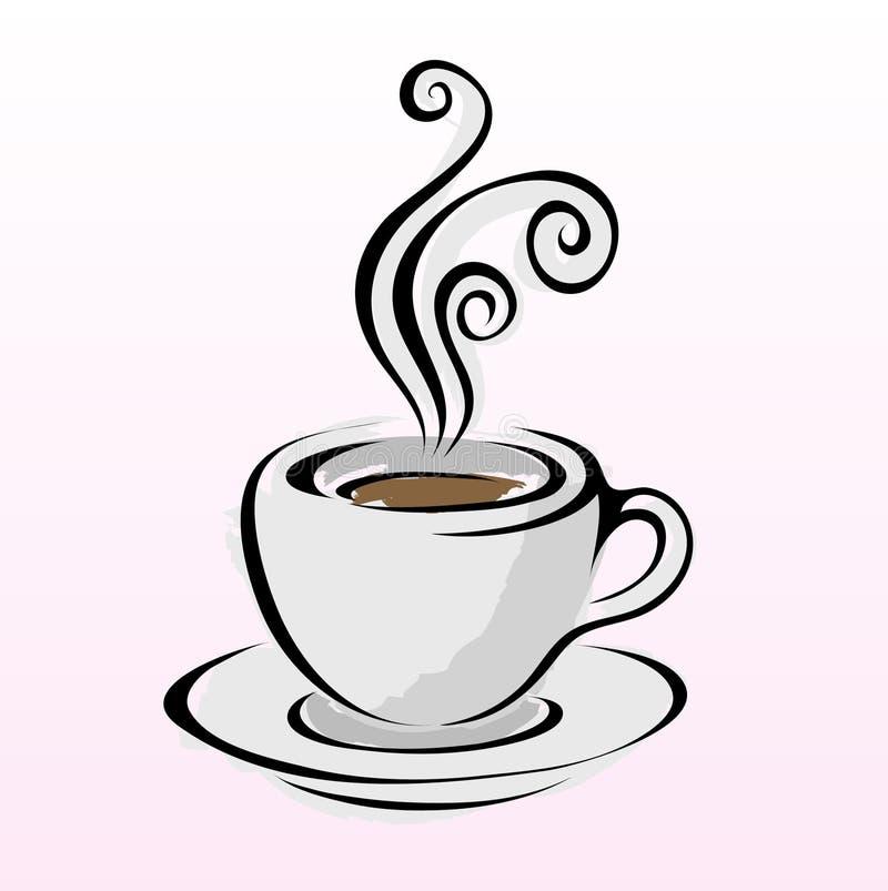 Zeile Kunstkaffee 4 vektor abbildung