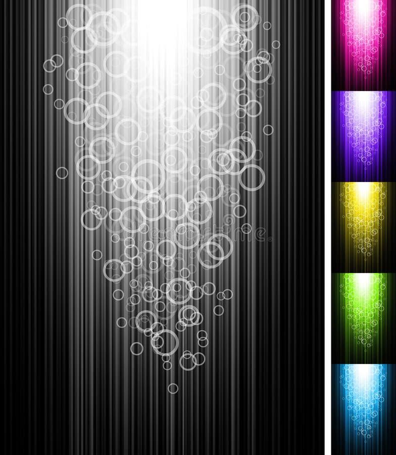 Zeile mit Kreisen glänzen vertikalen Hintergrund lizenzfreie abbildung