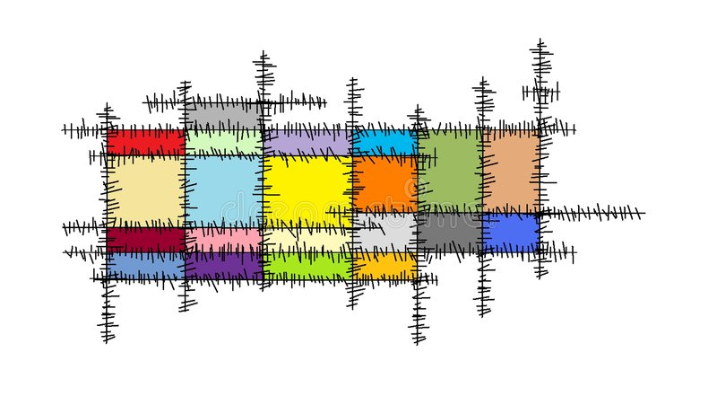 Zeilen Kreuz stock abbildung