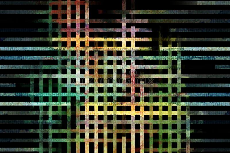 Zeilen Muster stock abbildung