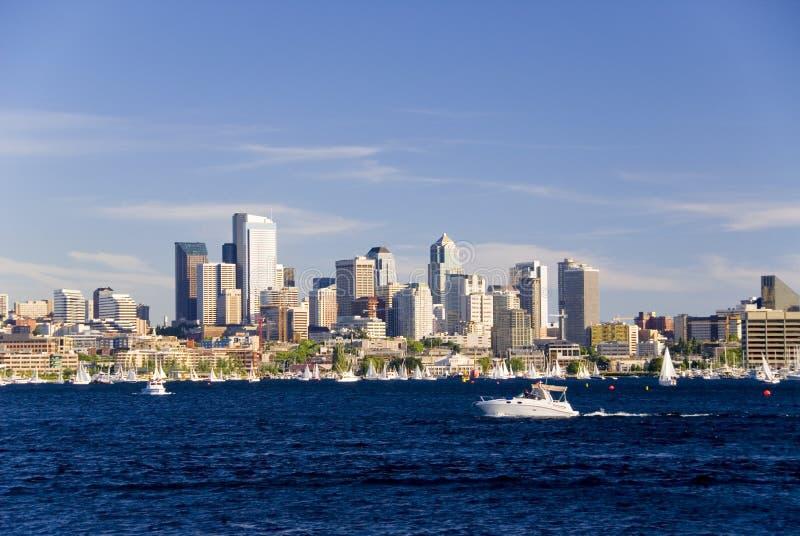 Zeilen in Seattle royalty-vrije stock afbeeldingen