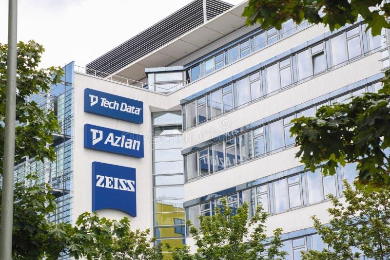 Zeiss, Azlan y datos de la tecnología en Munich imágenes de archivo libres de regalías
