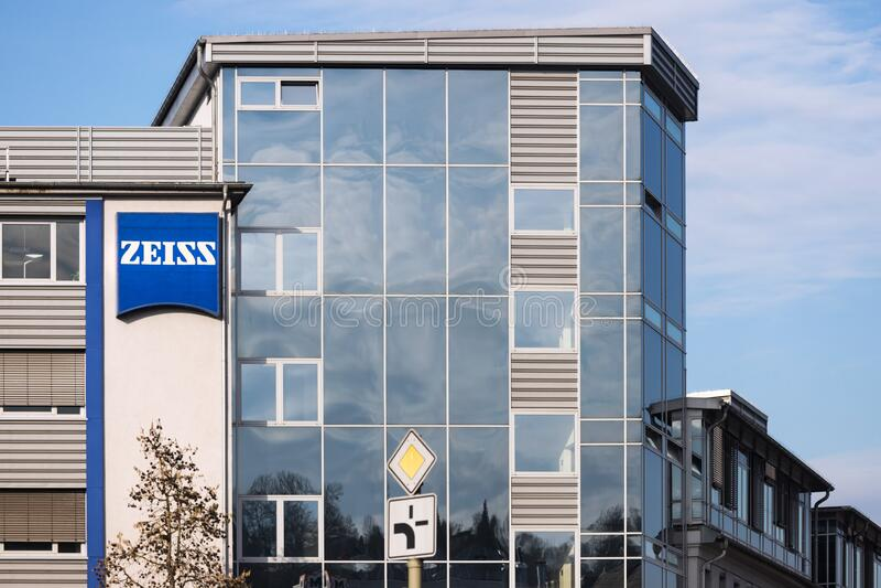 Zeiss-fabriek in wetzlar-duitsland stock afbeeldingen