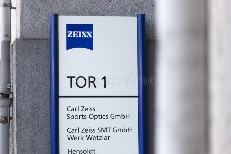 Zeiss-fabriek in wetzlar-duitsland stock foto's
