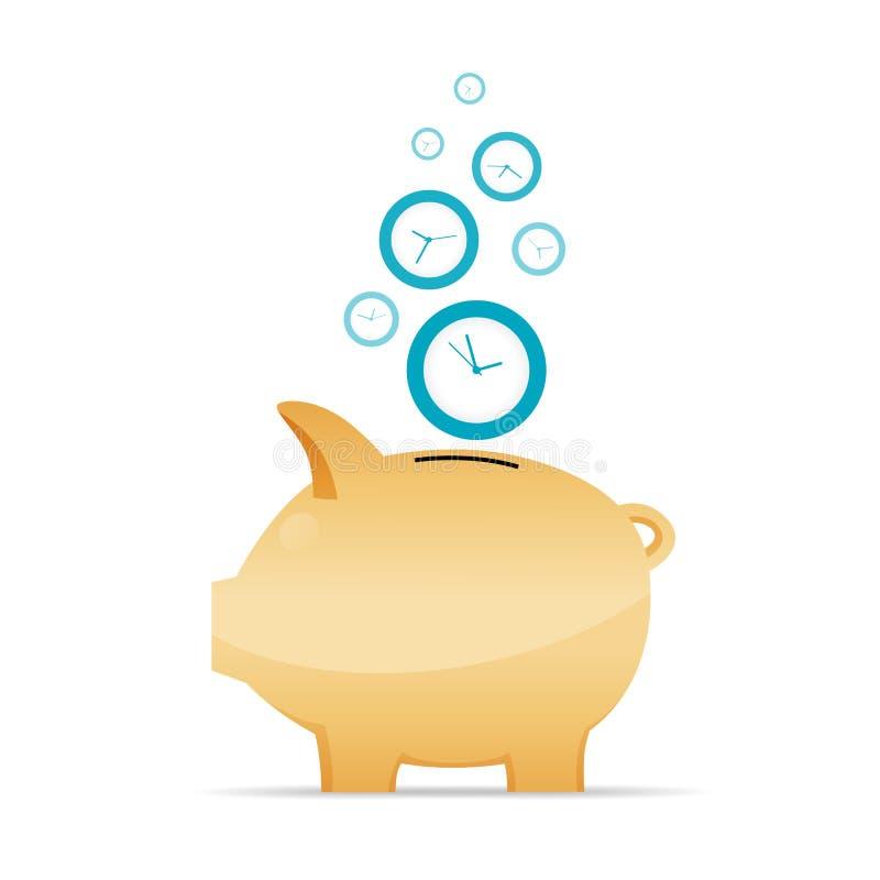 Zeit als Geld-Konzept lizenzfreie abbildung