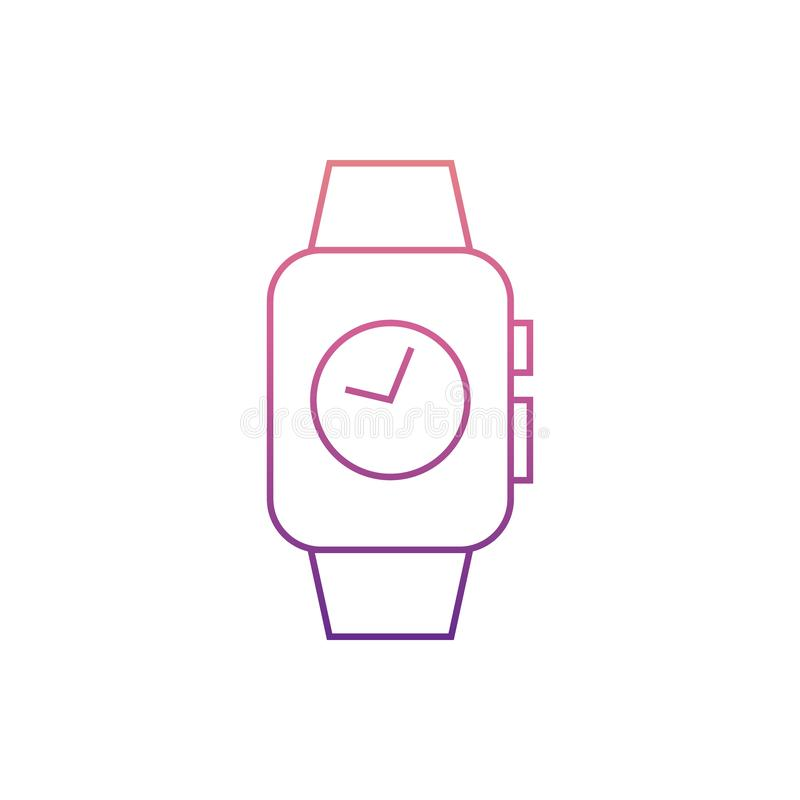 Zeit auf intelligentem watchesicon in Nolan-Art Ein der Netzsammlungsikone kann für UI, UX verwendet werden stock abbildung