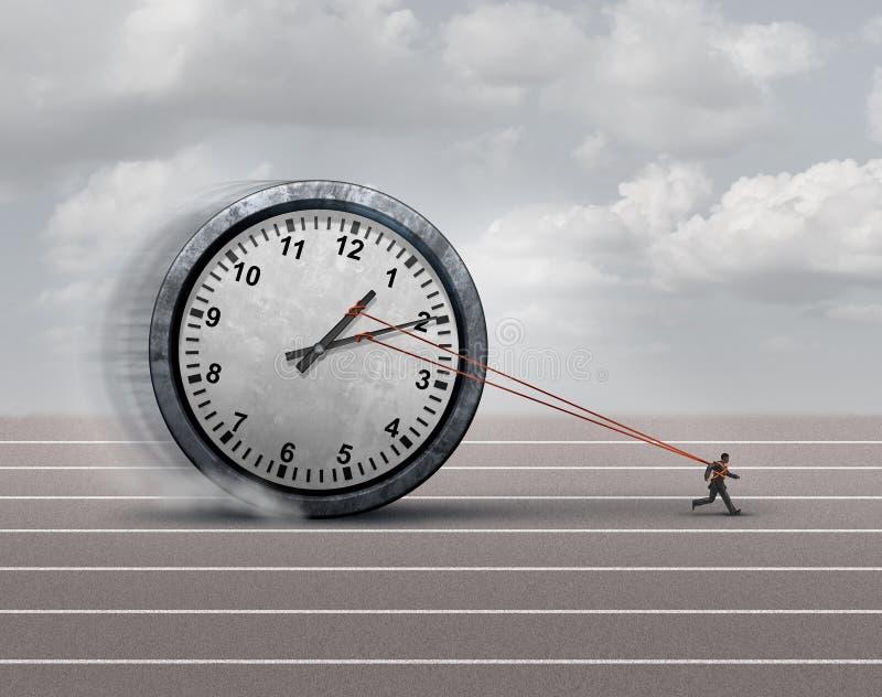 Zeit-Belastung lizenzfreie abbildung