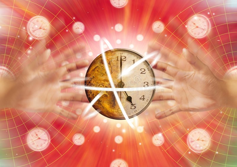 Download Zeit in der Bewegung stock abbildung. Illustration von zeit - 37890