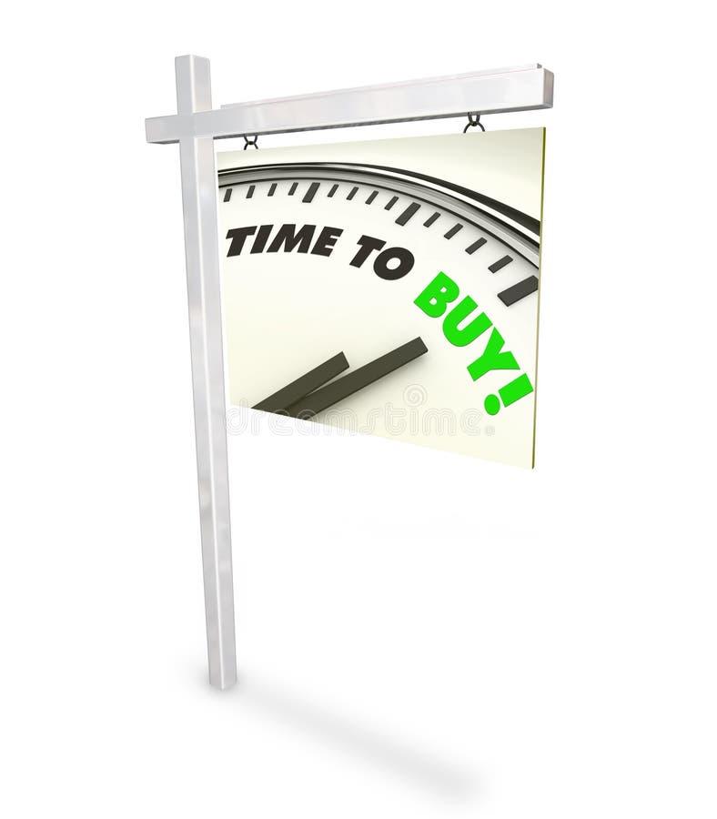 Zeit, die Borduhr zu kaufen - Haupt für Verkaufs-Zeichen vektor abbildung