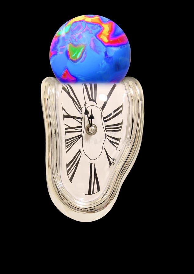 Zeit, die heraus für Planetenerde läuft stockbilder