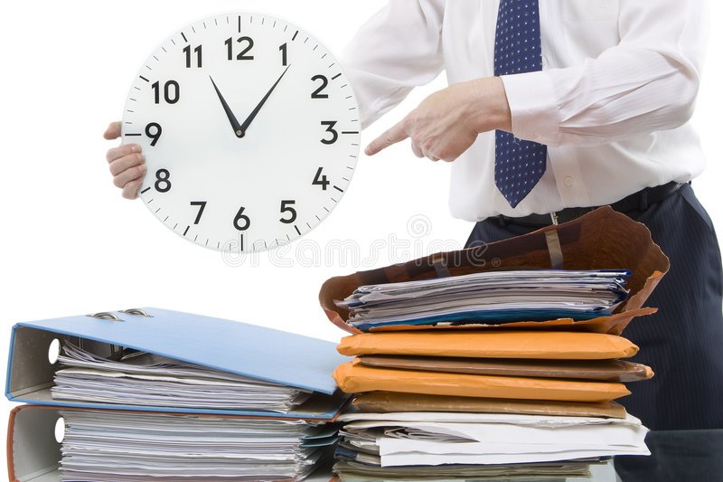 Zeit-Druck lizenzfreies stockbild