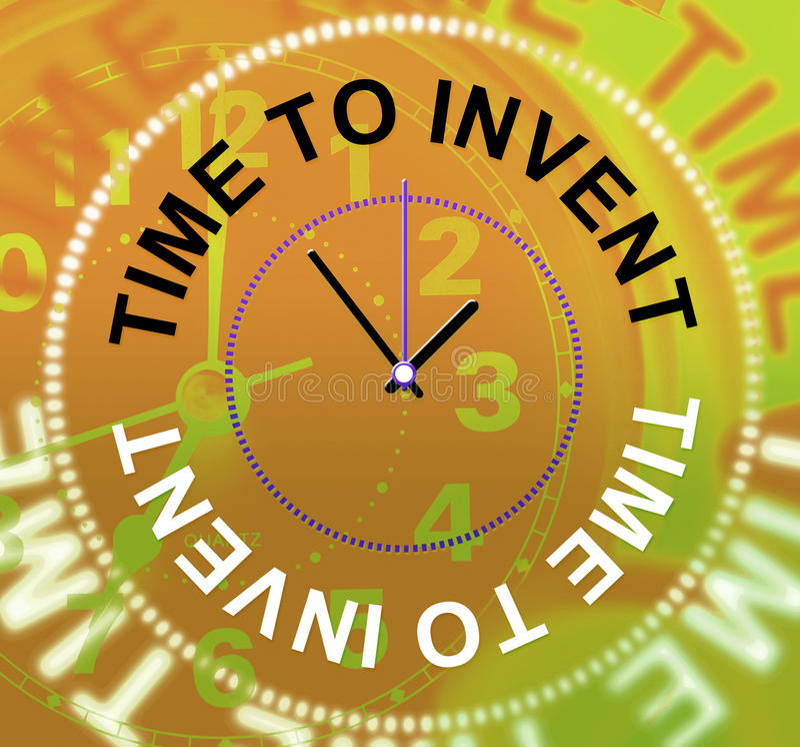 Zeit, Durchschnitt-Innovationen zu erfinden machen und Erfindungen lizenzfreie abbildung