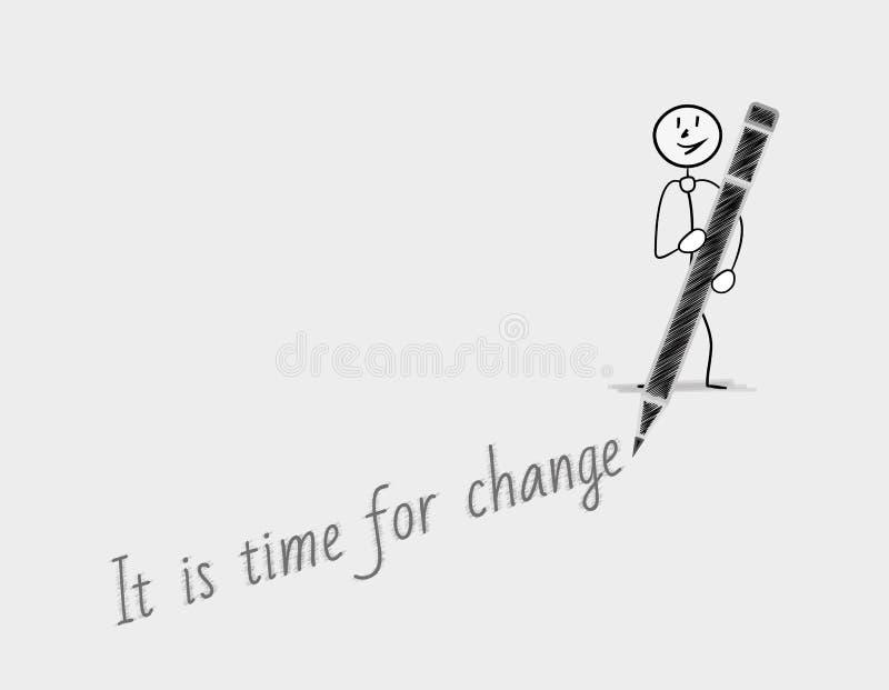 Zeit für Änderung lizenzfreie abbildung